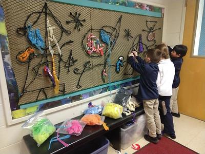 Lower School Collaborative Plastic Tapestry