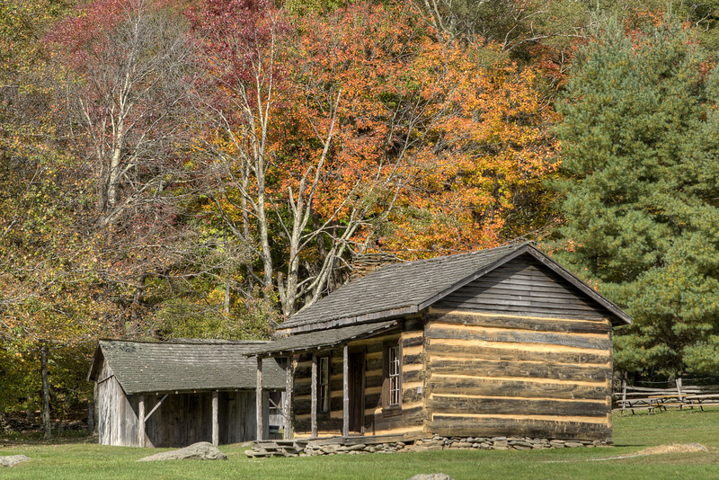Fall colors surround the rustic buildings at the Homestead Area at Grayson Highlands State Park in Mouth of Wilson, VA on Tuesday, October 15, 2013. Copyright 2013 Jason BarnetteA few fall colors along the road leading to the Homestead Area at Grayson Highlands State Park in Mouth of Wilson, VA on Tuesday, October 15, 2013. Copyright 2013 Jason Barnette  The Homestead Area at Grayson Highlands State Park features several rustic buildings that were once part of a frontier homestead, a few picnic shelters, several picnic areas, and a stage for performances throughout the year.