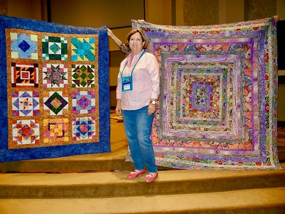 2018 10-02 TCQG w/Shannon Brinkley, Scrappy applique quilt trunk show