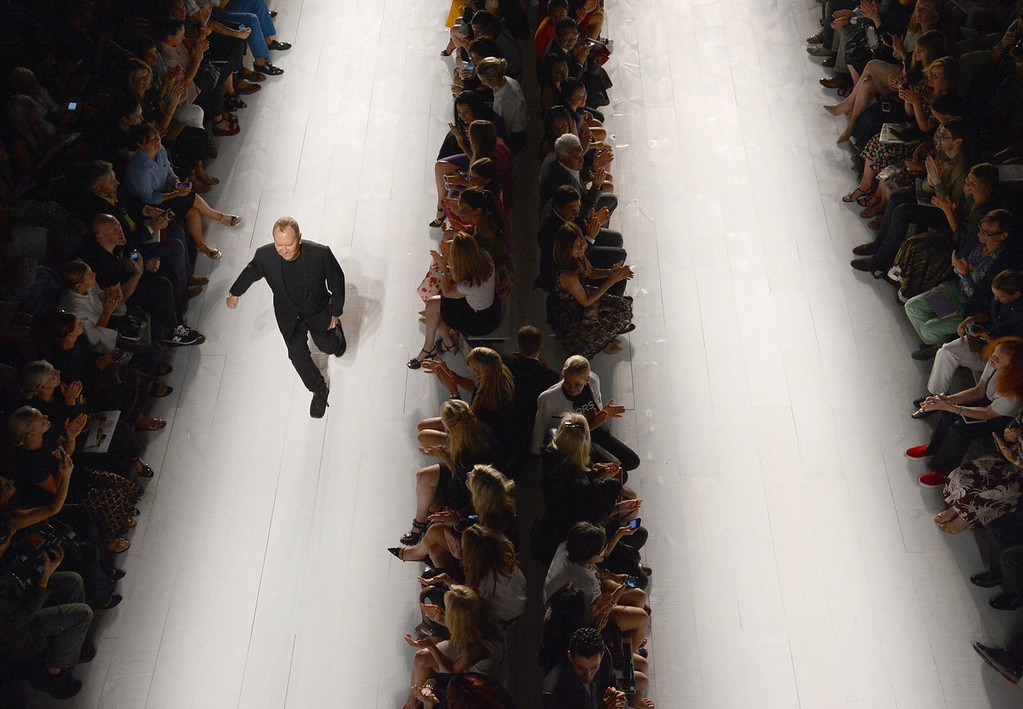 . Designer Michael Kors walks the runway at the Michael Kors fashion show during Mercedes-Benz Fashion Week Spring 2014 on September 11, 2013 in New York City.  (Photo by Megan Cloutier/Getty Images)