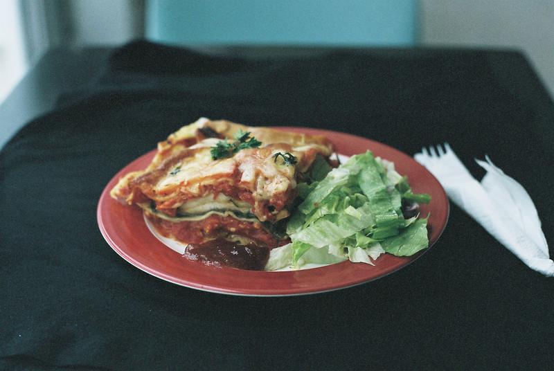 Food court lasagna