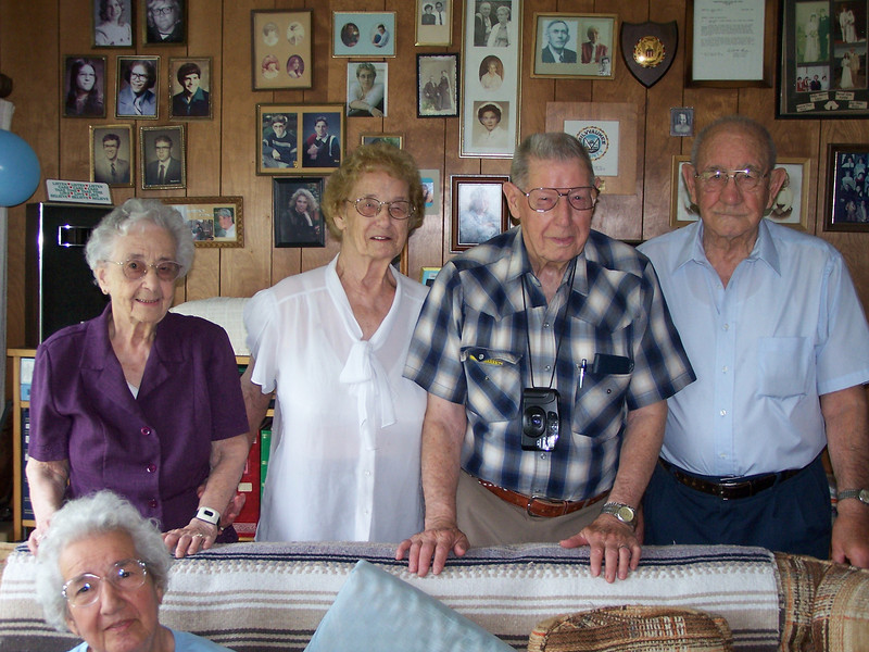 Marie, Amelia, Ray and Frank, and Edith
