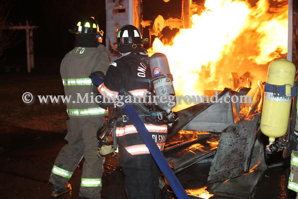 2/19/16 - Onondaga garage fire, 4941 Walker Rd