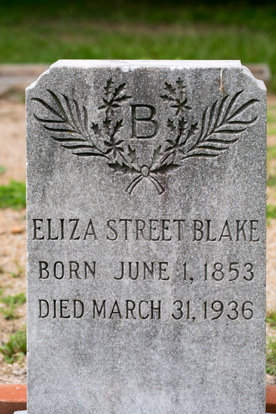 In Oakland Cemetery in the African American burial grounds is the grave site of Eliza Blake, a domestic worker who died at 83 years old and left a sizable sum to her church when she passed away.  Her site is unique in that a brick boarder, or cradle exists at all (not common for the time and tradition) but also that it is 3 and sometimes 4 bricks deep.  Recent rennovations have brought back up the sinking cradle where Blake is buried with her family in Oakland block 68.  (Jenni Girtman / Atlanta Event Photography)