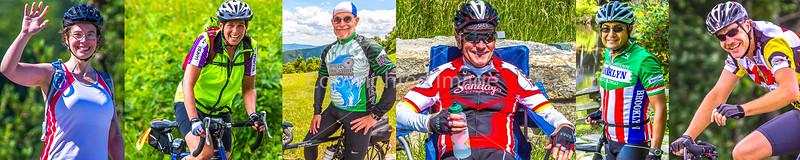 1-I) - Cyclist Close-Ups - Smiles - Blue Ridge Bliss ACA Ride