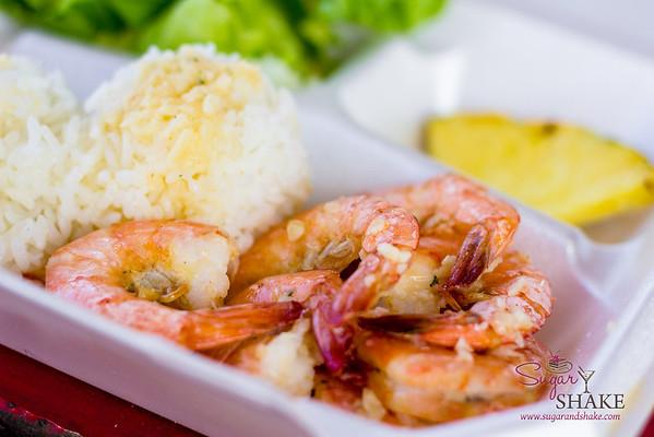 Fumi's shrimp plate. © 2013 Sugar + Shake