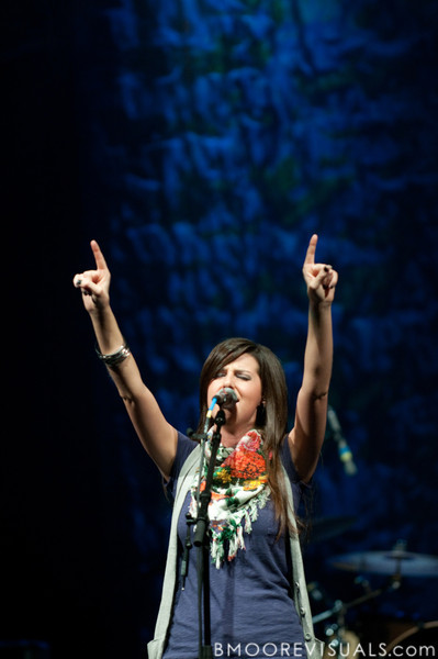 Meredith Andrews performs on October 11, 2010 at Harborside Church in Safety Harbor, Florida