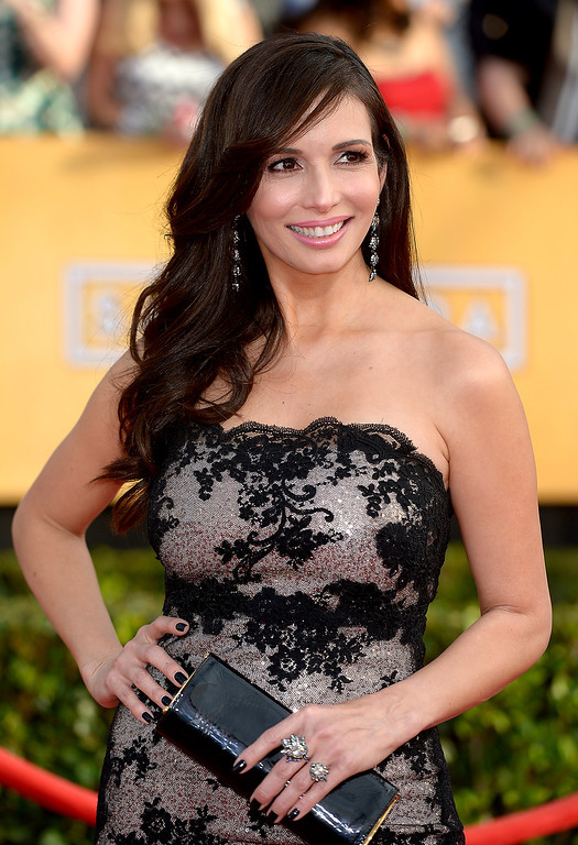 . Giselle Blondet arrives at the 20th Annual Screen Actors Guild Awards  at the Shrine Auditorium in Los Angeles, California on Saturday January 18, 2014 (Photo by Michael Owen Baker / Los Angeles Daily News)