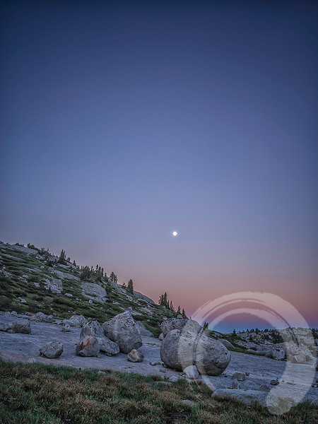 Moonset at Sunrise in Titcomb Basin