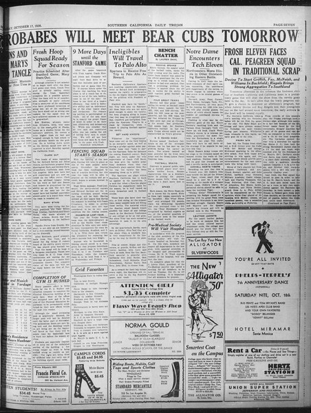 Daily Trojan, Vol. 22, No. 26, October 17, 1930