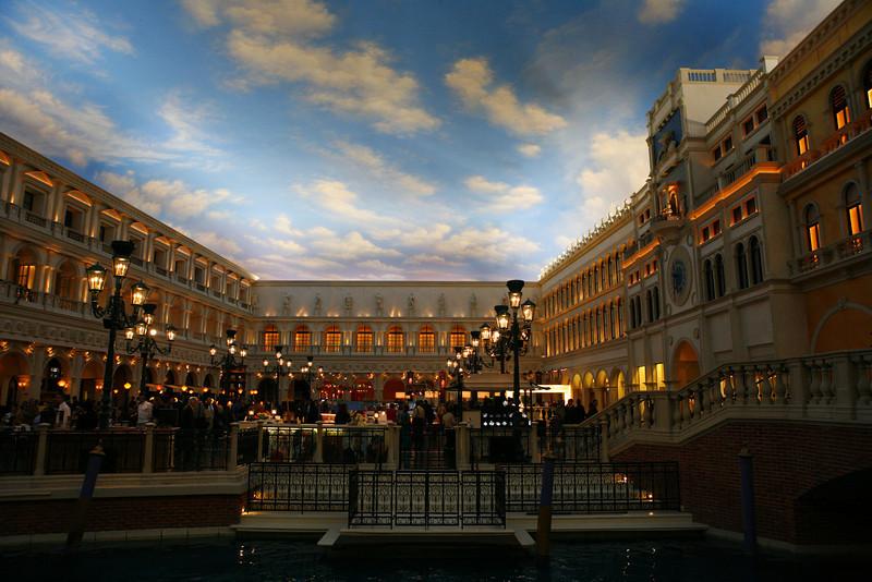 Inside the Venetian Hotel in Las Vegas, NV