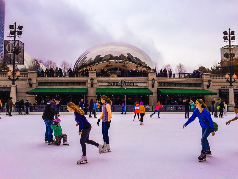 Skaters and the Bean.