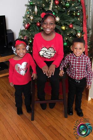 The Wildman kids Christmas Portrait