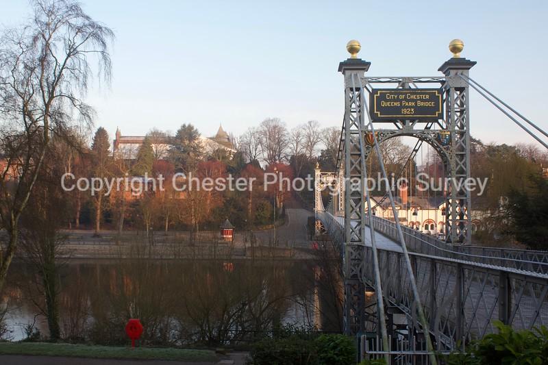 Queens Park Bridge and St Johns Church: The Groves