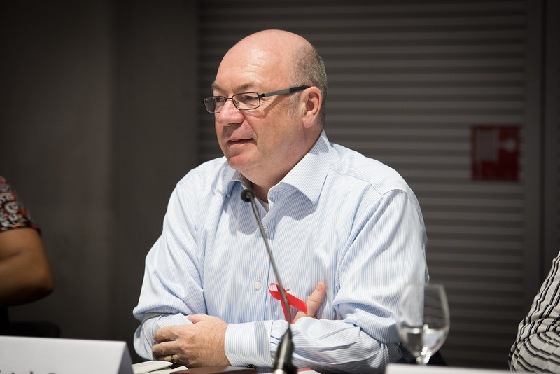 22nd International AIDS Conference (AIDS 2018) Amsterdam, Netherlands   Copyright: Marcus Rose/IAS  Photo shows: #HeForShe town-hall. Alistair Burt