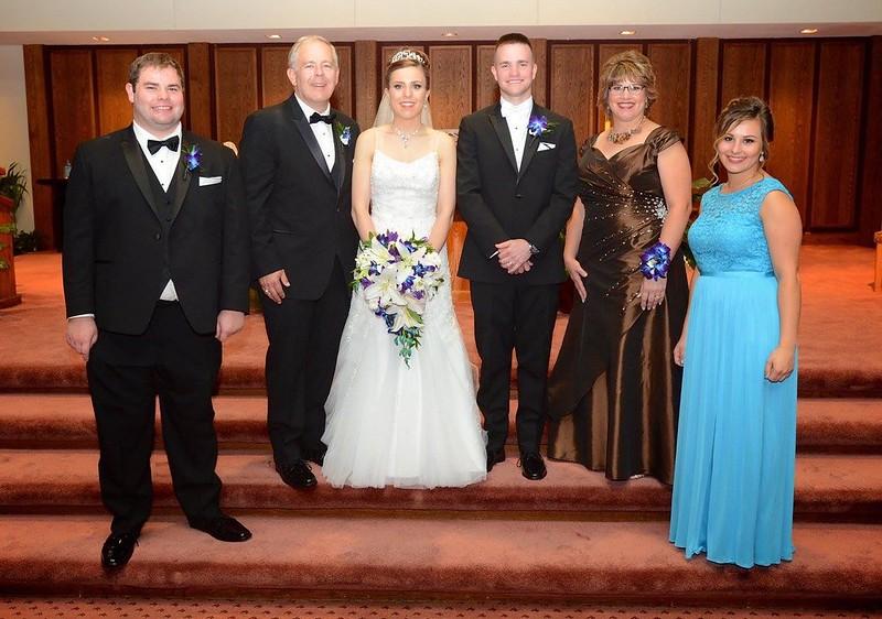 Happy Family:  John Robert, John, Allison, Mike, Fran, Elizabeth - 7/7/17