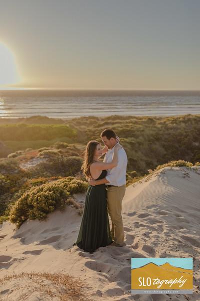 Sarah+Cale ~ Oceano Beach Dunes Engagement