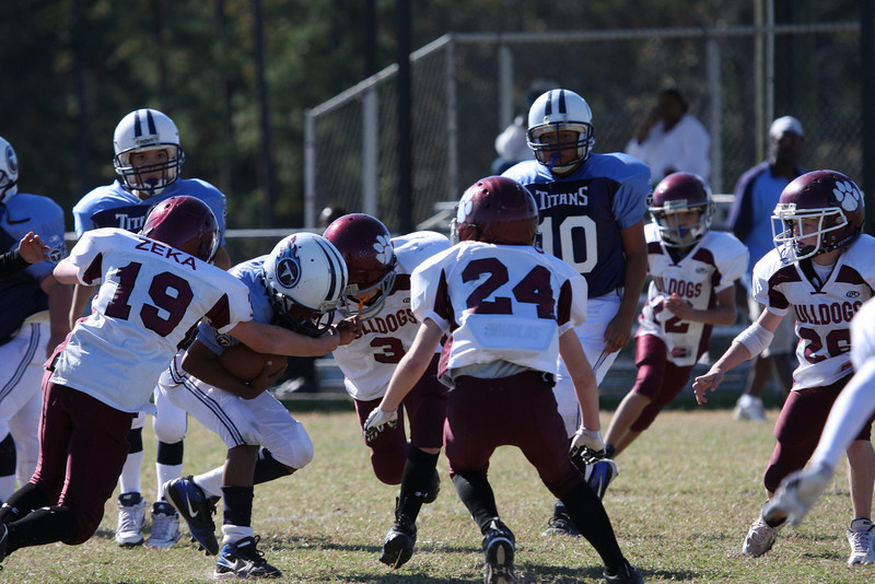Bulldogs Vs Titans(Juniors) - (MYFA) Magnolia Youth Football Association