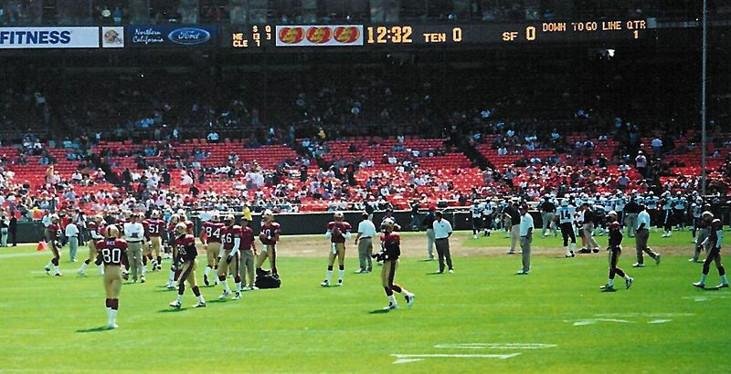 Jerry Rice warms up