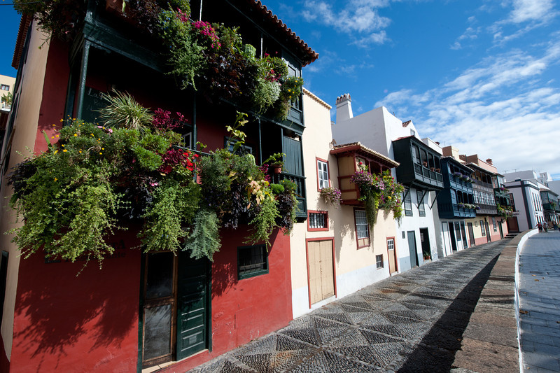 Village street in La Palma, Canary Islands, Spain