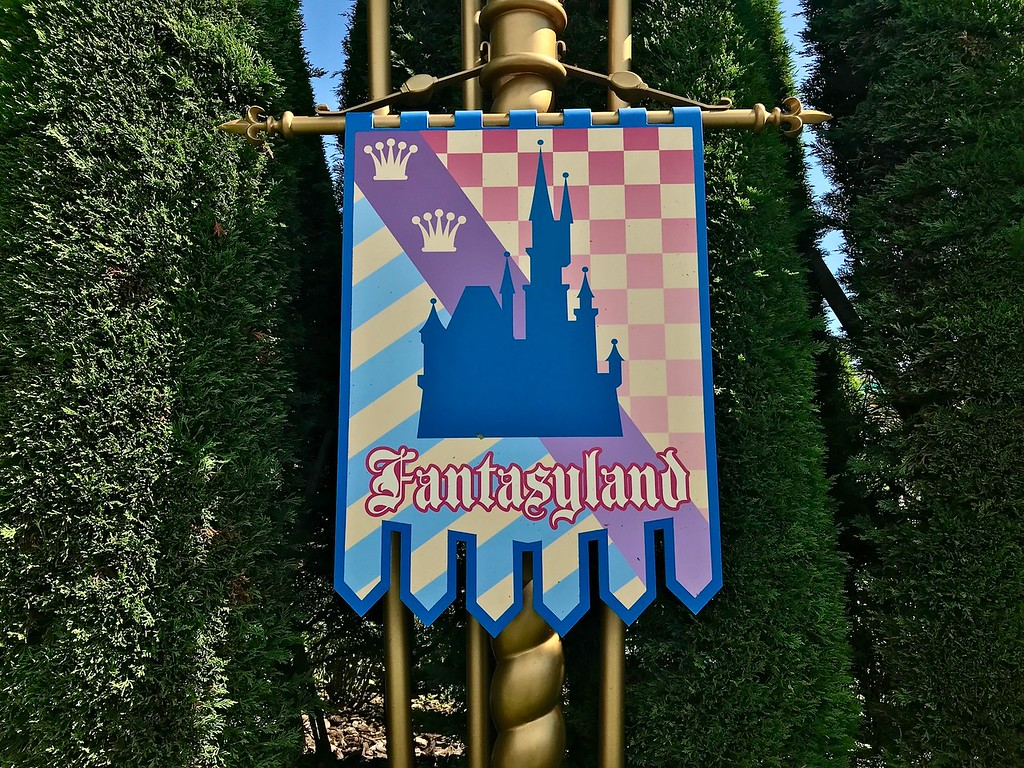A banner for Fantasyland.