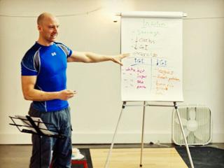 Josh Hewett at 'The Fundamentals of Fat Loss' Seminar