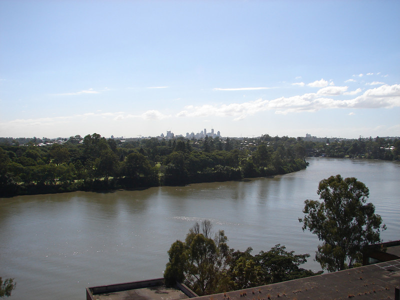 Brisbane River from the Top of the Tennyson Power Station