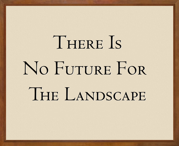 2. THERE IS NO FUTURE FOR THE LANDSCAPE.jpg