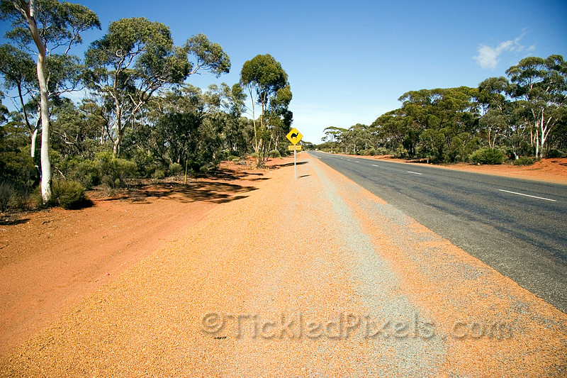 On the Great Eastern Highway west of Kalgoorlie