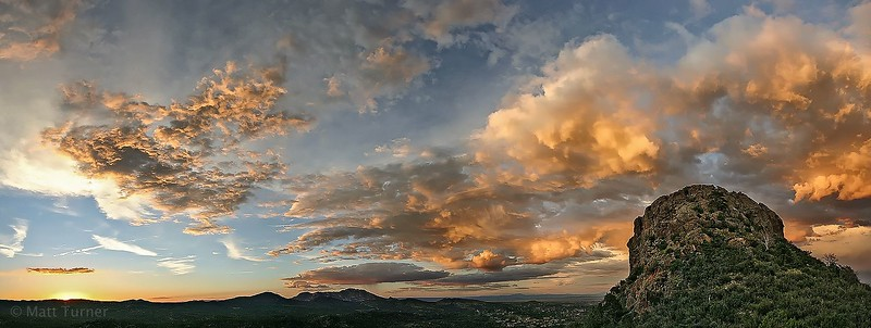 Evening Sky Over Thumb Butte