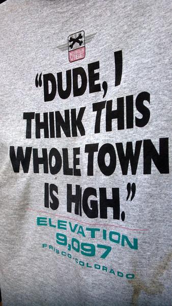 T-shirt in Frisco.  LOL.