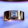0.40ct Carre Cut Rose Gold Band 28