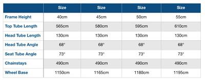 Haibike SDURO FullNine RX Frame Geometry