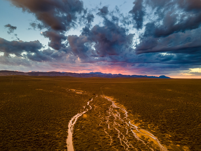 The river runs dry, Karoo, South Africa