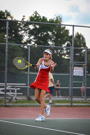 High School Tennis - Marquette Redettes vs Munising Mustangs - 09/11/13