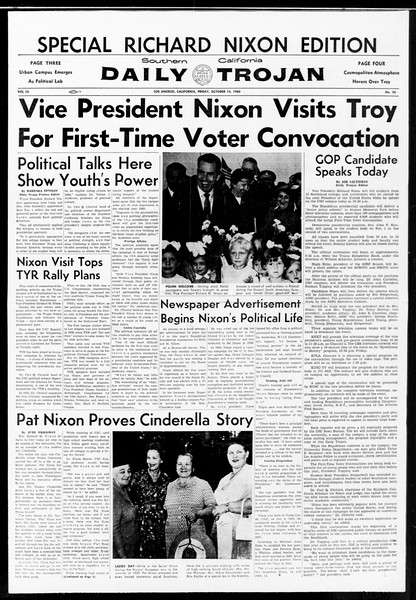 Daily Trojan, Vol. 52, No. 20, October 14, 1960