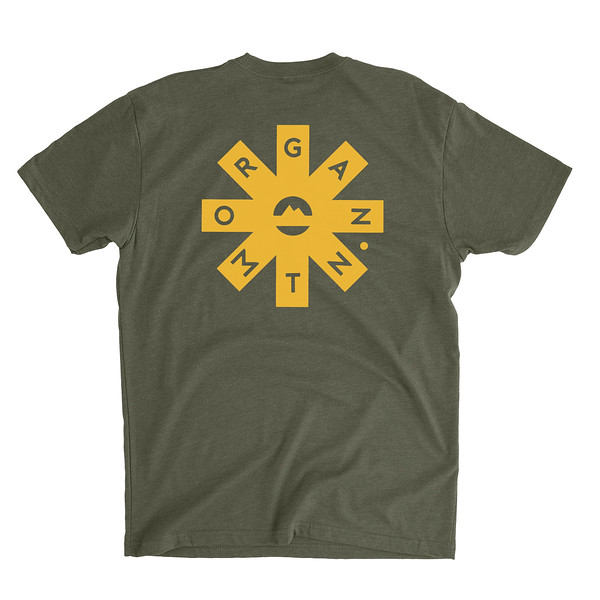 Organ Mountain Outfitters - Outdoor Apparel - Mens T-Shirt - Organ Mtn Lost & Found Tee - Military Green Back.jpg