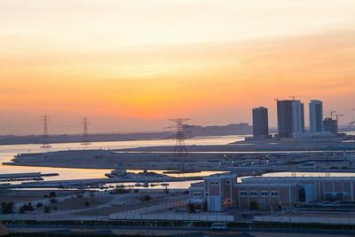 2014_06_16, Sunrise from flat, Abu Dhabi