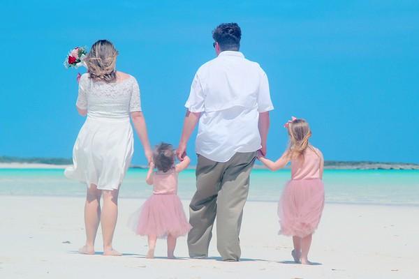 Megan and Trey's Coco Plum Beach Sandbank Vow Renewal
