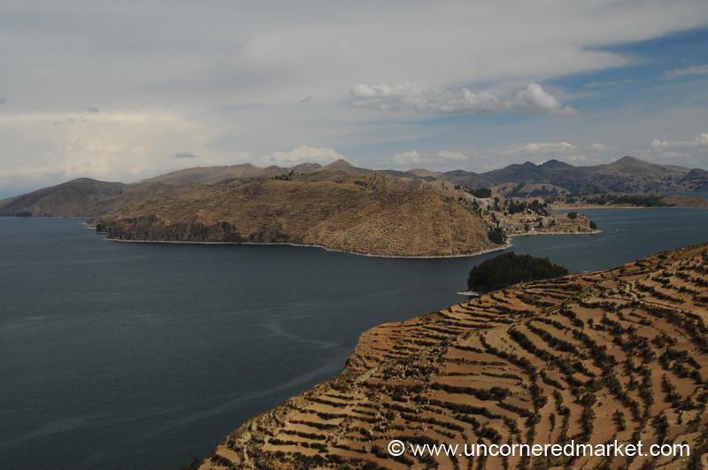 Terraced Fields of the Isla del Sol - Lake Titicaca, Bolivia