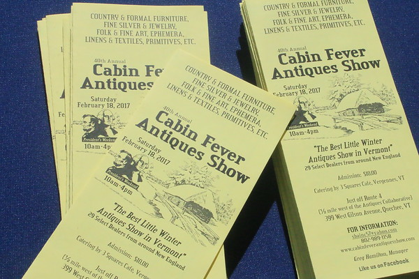 Cabin Fever Antique Show, 2017