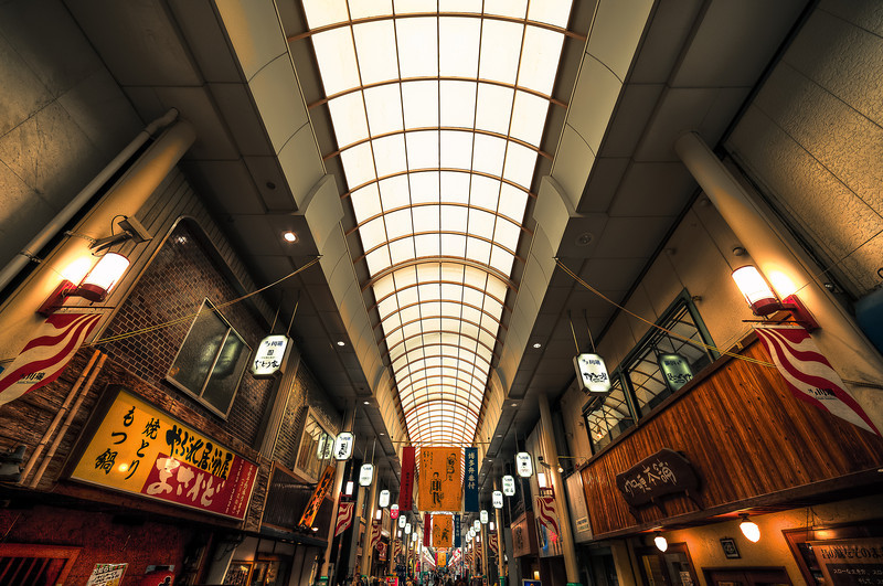 Kawabata Street This is a local shopping plaza in Fukuoka Japan. Very cool place with an awesome cultural and vibe.