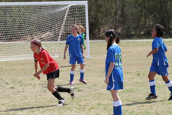 U10 Girls vs DCU 3-19-2011