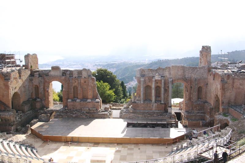 Greek theatre from third century BC in Taormina