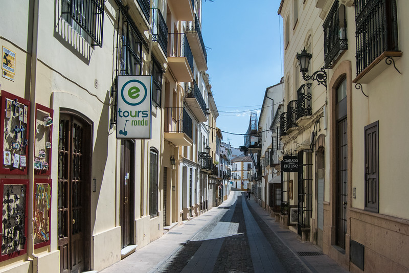 Stopped halfway in Ronda, a mountain town