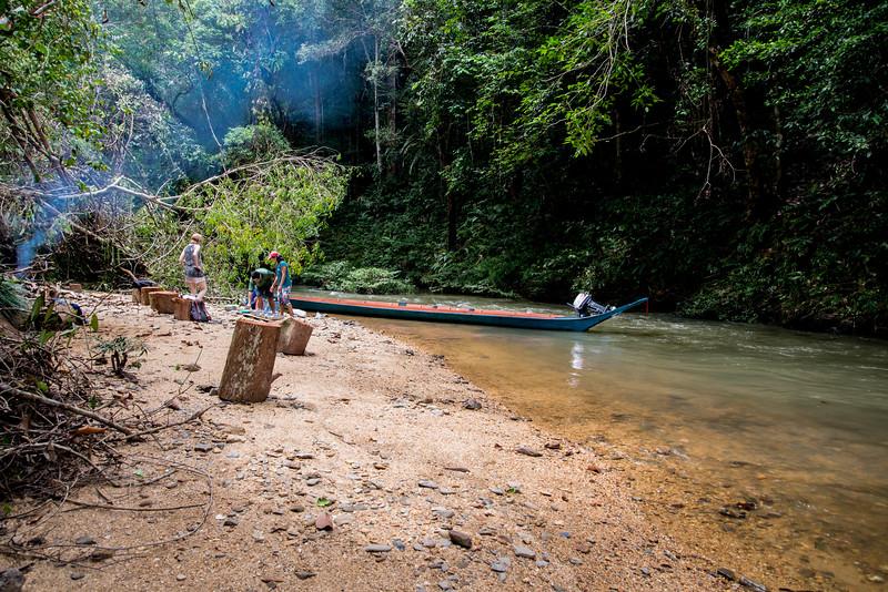 On the River Near Enseluai Waterfall