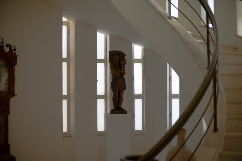 Sculpture in the Weizmann House.