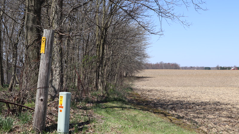 North boundary of the Wyandot Reserve