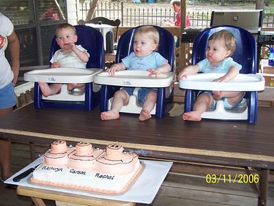 Triplet 1st Birthday