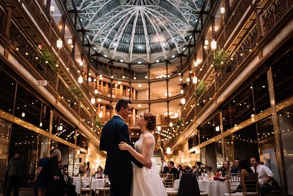 Cleveland Fine Art Wedding Photography   Hyatt Arcade Wedding